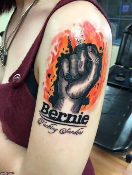 bernie fucking sanders tattoo.jpg