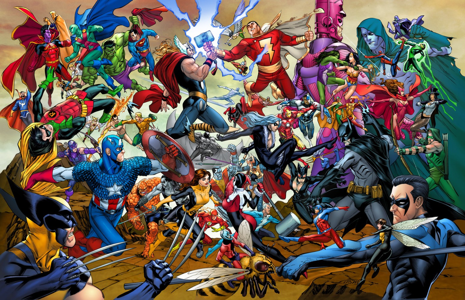 Marvel vs DC Poster by Deffectx