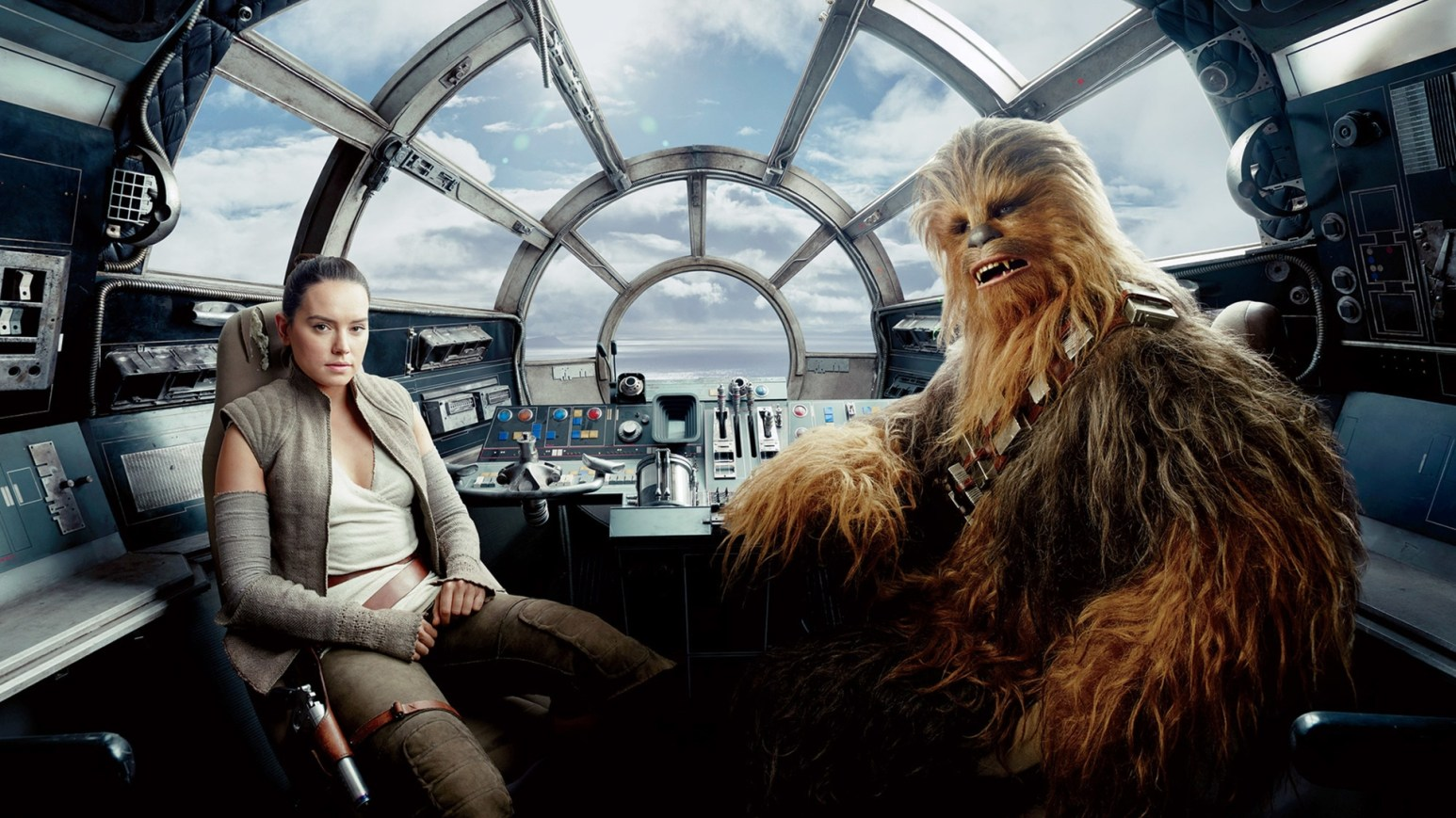 Rey and Chewy