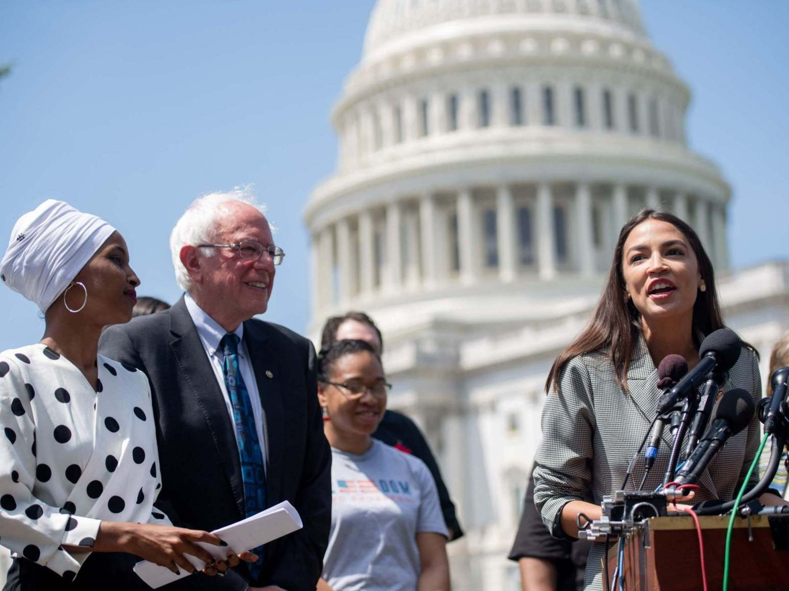 Donald Trump tells AOC and Ilhan Omar to go back to their original countries
