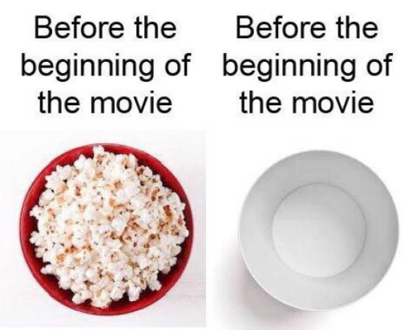 before the beginning of the movie