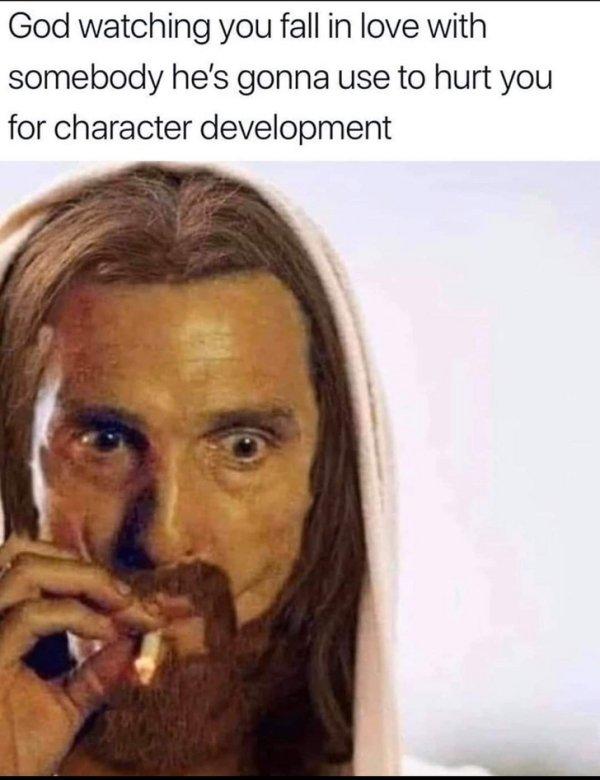 god takes a hit