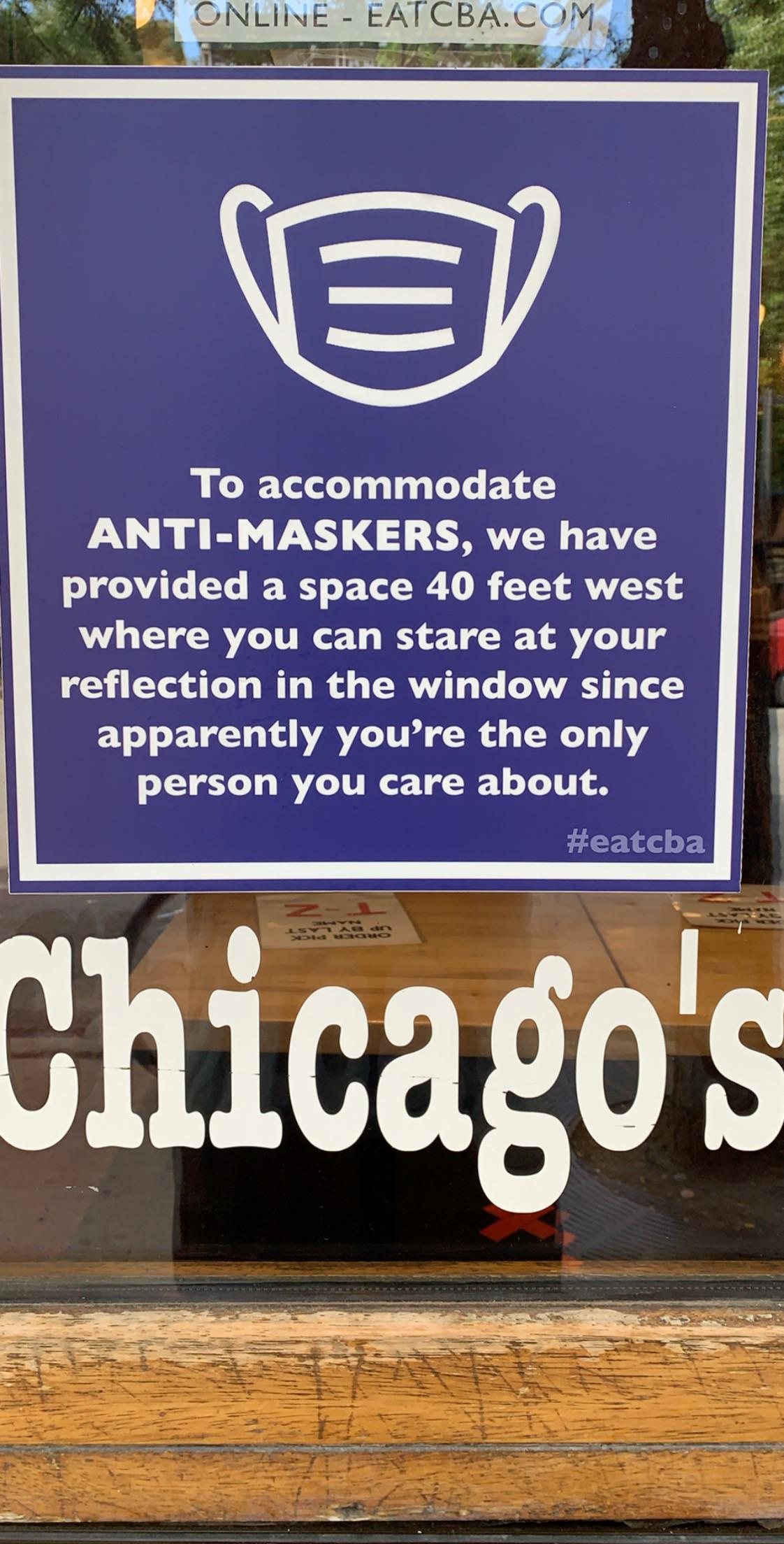 To accommodate Anti-Maskers