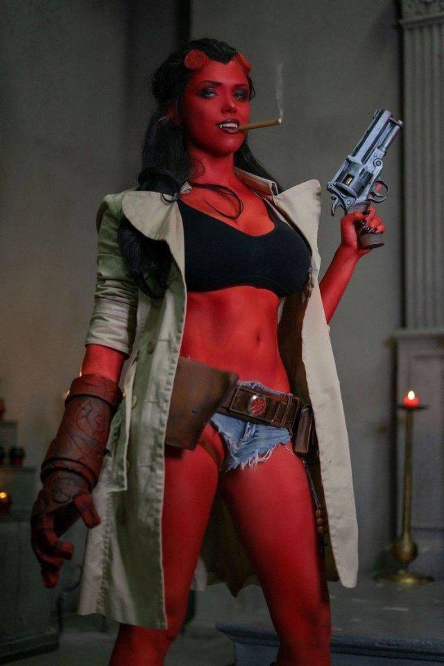 red devil gun girl