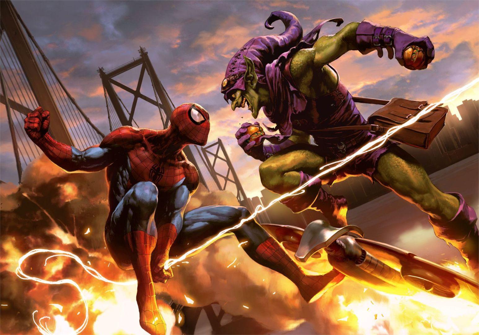 Spider-man vs The Green Goblin