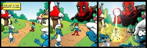 DeadpoolMeetsTheSmurfs.jpg (82 KB)