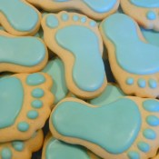 Baby Feet Cookies, Blue