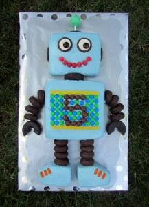 Robot Cake - Full View