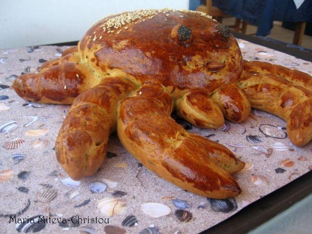 Ароматен хляб във форма на Рак