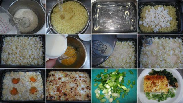 Запеканка с Ориз, Яйца и Сирене