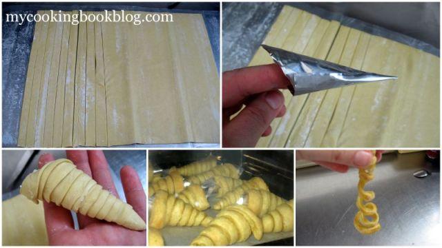 Фунийки от Бутер тесто с пълнеж от Крем сирене, Домати, Копър и Чесън