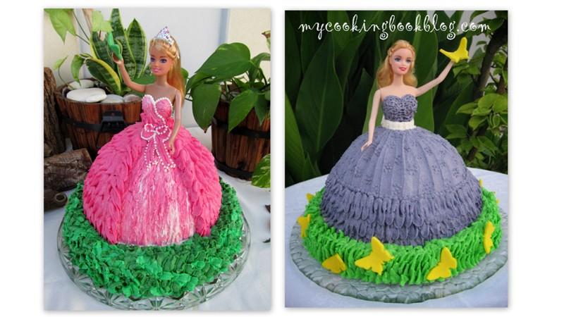 Торта кукла Барби