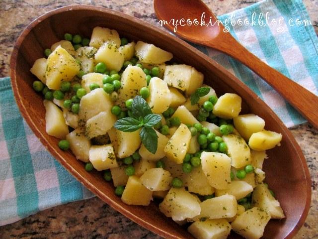Картофена салата с грах