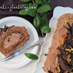 Руло чудо или шоколадово руло със сметана и шипков мармалад