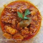 Гулаш от свинско месо и пилаф с ориз и фиде