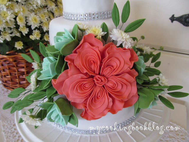 Захарен букет с Английска роза и Сукуленти (English Rose & Succulents)