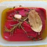 Печени червени чушки конфи