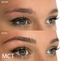 Eyebrow Feathering 3D Tattoo Before & After