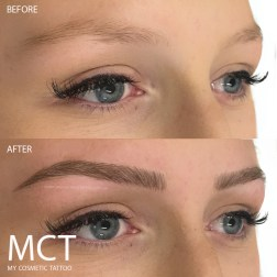 Eyebrow Hair Stroke 3D Feathering Tattoo