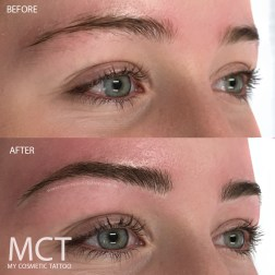 Before & After 3D Feathering Brow Tattoo