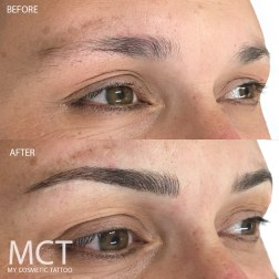 Eyebrow Tattoo Feathering