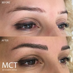 Before & After 3D Eyebrow Tattoo Feathering