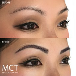 Brow feathering Tattoo Before & After