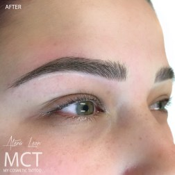 After 3D Brow Feathering