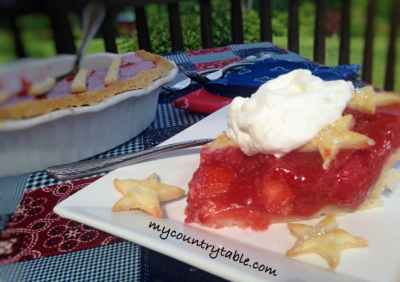 Double Strawberry Glaze Pie
