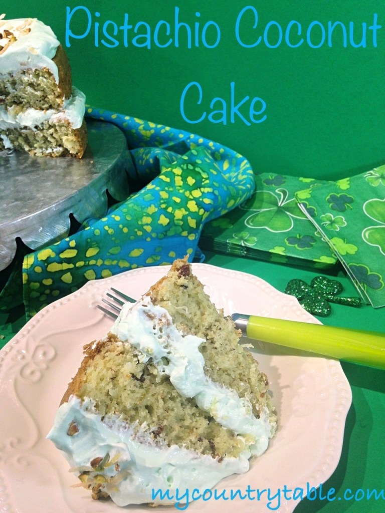 pistachio coconut cake my country table