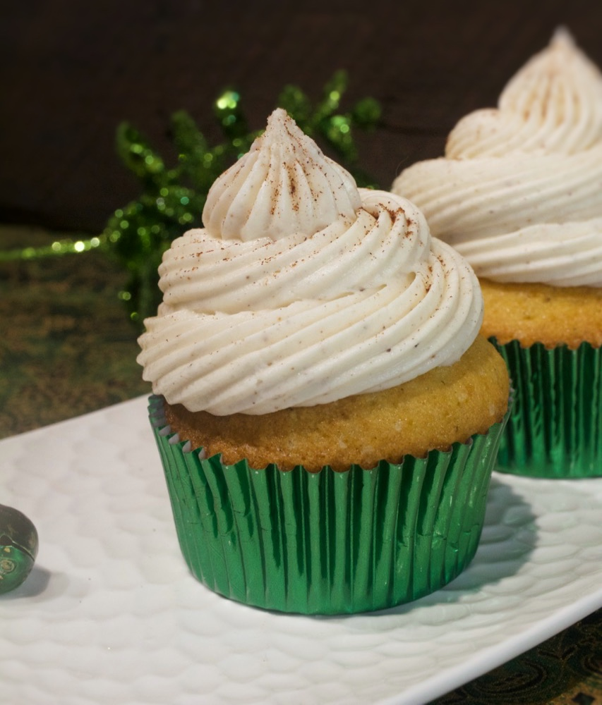 Eggnog Cupcakes With Eggnog Buttercream