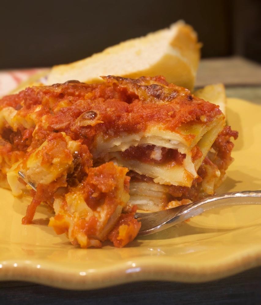 Perfect Cheese & Tomato Lasagna