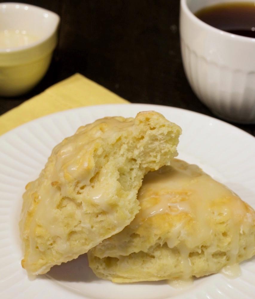 Buttermilk Scones with Sugar Glaze