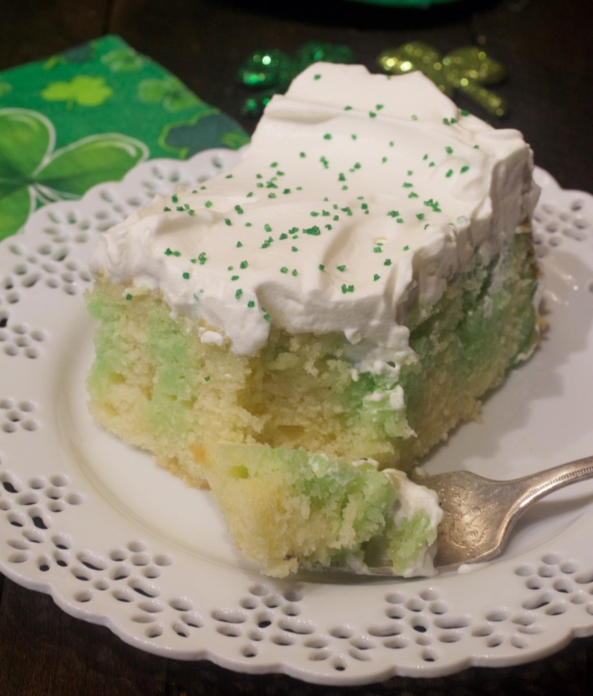 Homemade Buttermilk Lime Poke Cake