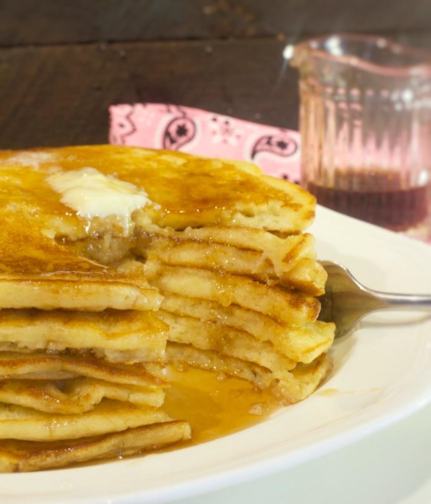 Sour Cream Buttermilk Pancakes
