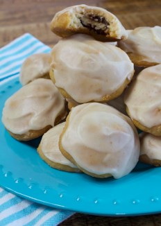 Pecan Date Cookies With Browned Butter Icing