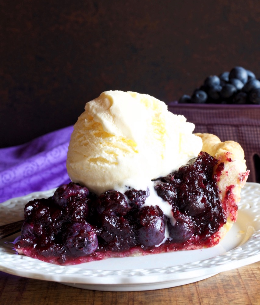 Open Face Blueberry Pie