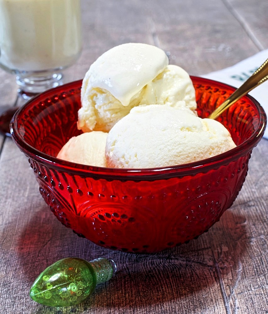 No Churn Eggnog Ice Cream
