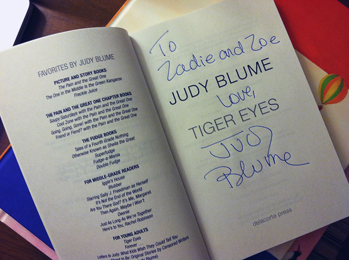 Cozy Classics - Signed Judy Blume Book