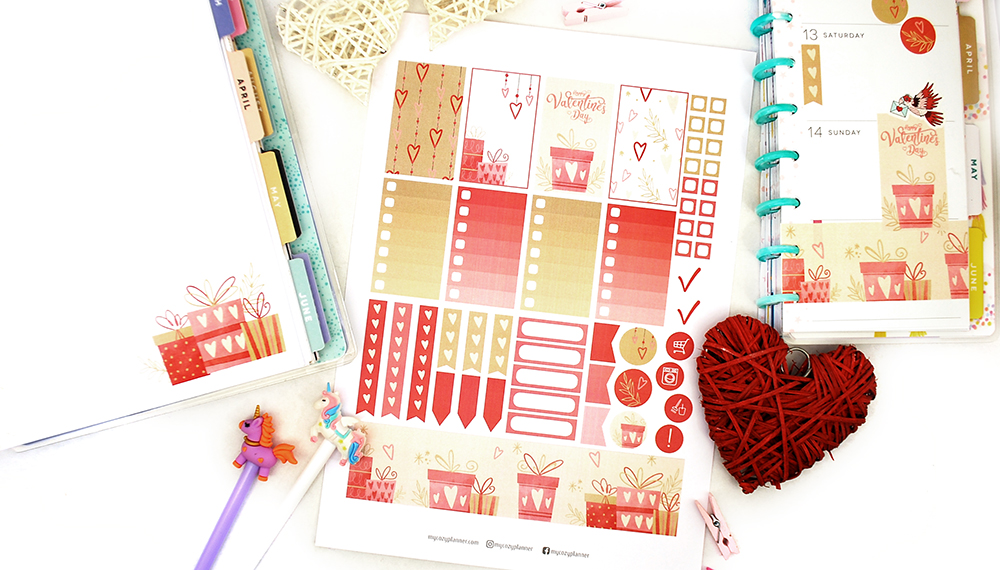 Free planner stickers. Valentine's Day Stickers. Free ...