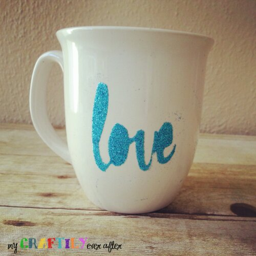 Personalized Glitter Coffee Mugs - Easy Gift Series #glitteratmichaels