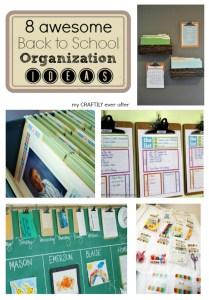 8 awesome back to school organization ideas