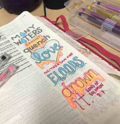 Bible Journaling Song of Solomon 8:7