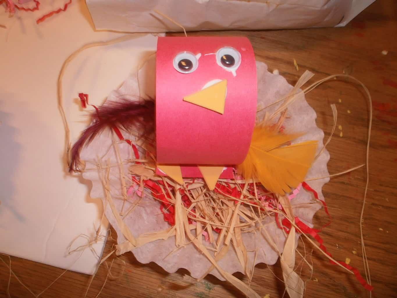 Baby Bird In Nest Craft For Kids
