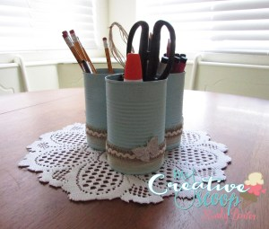 DIY Desk Caddy Tutorial with Recycled Cans!