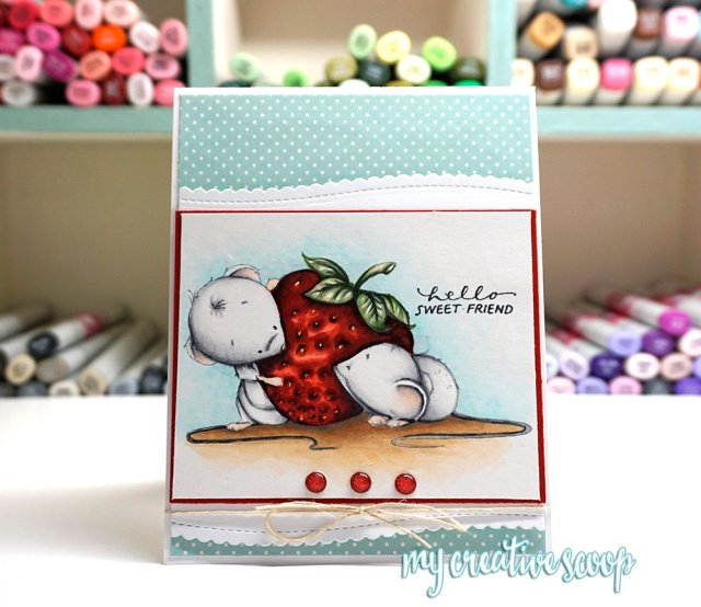 Whimsy Stamps - Coloring a Strawberry with Copic Markers