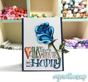 How to color and shade a Rose using Copic Markers