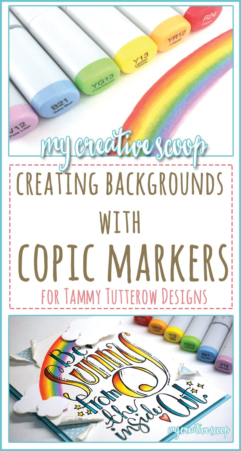 Creating Backgrounds behind your images using Copic Markers - Pinterest