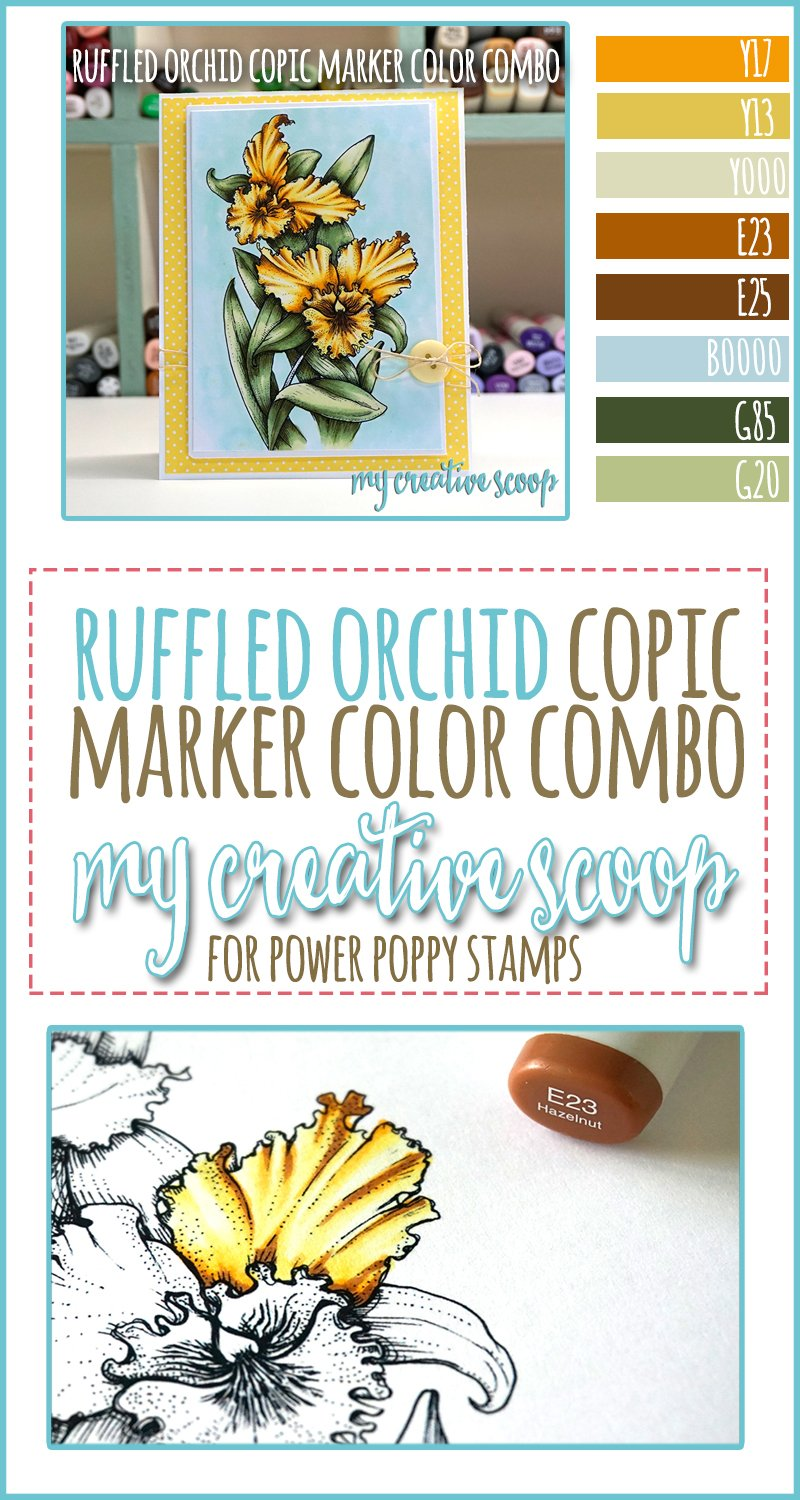 Ruffled Orchid Copic Marker Color Combo - Power Poppy Stamps