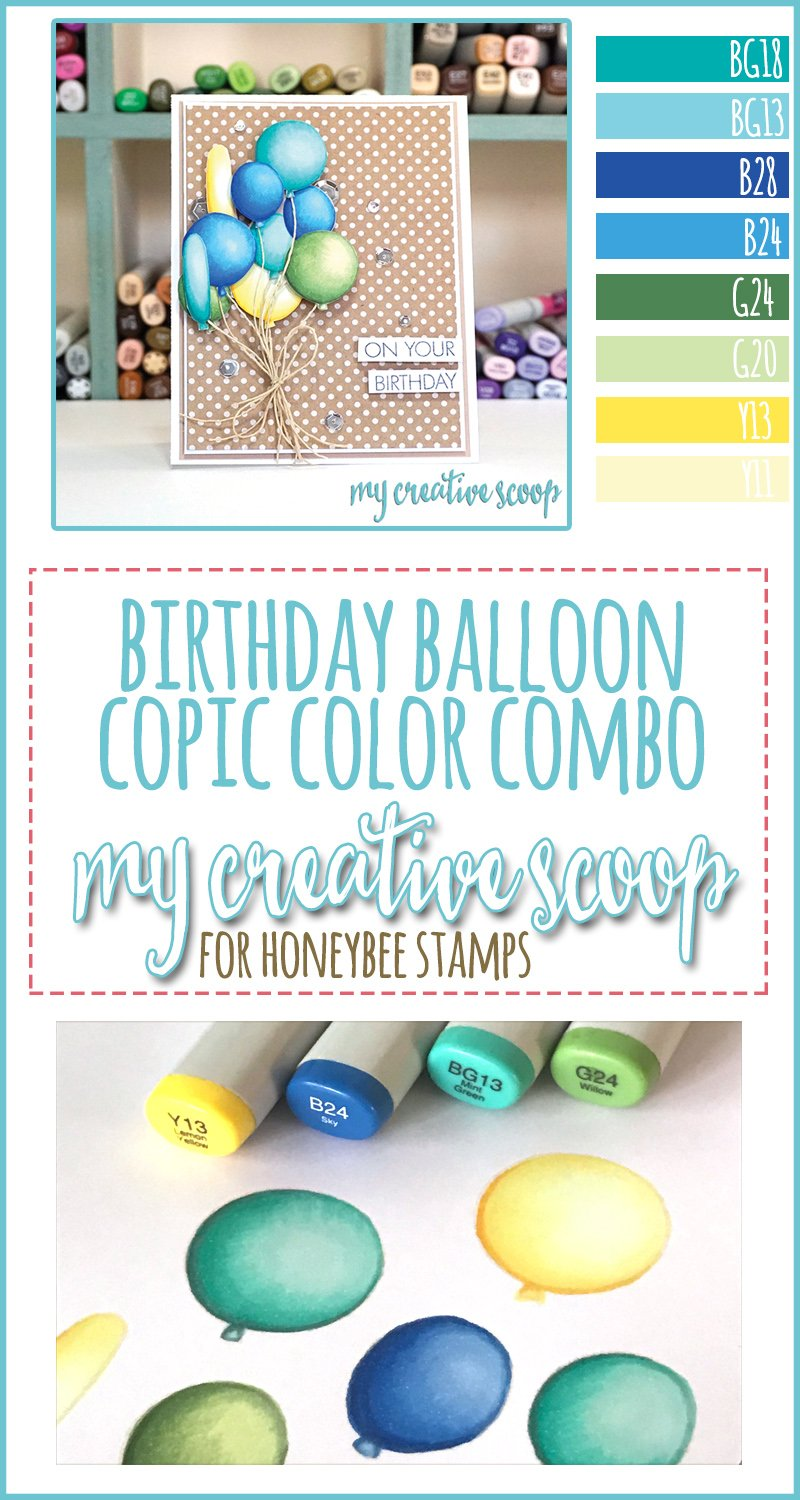 Birthday Balloon Copic Marker Color Combo